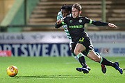 Forest Green Rovers George Williams(11) runs forward during the EFL Sky Bet League 2 match between Yeovil Town and Forest Green Rovers at Huish Park, Yeovil, England on 8 December 2018.