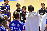 Gianmarco Pozzecco<br /> Banco di Sardegna Dinamo Sassari - A X Armani Exchange Olimpia Milano<br /> 10° Basketball Tournament City of Cagliari<br /> Legabasket 2020/2021<br /> Cagliari, 20/08/2020<br /> Foto L.Canu / Ciamillo-Castoria