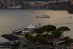 Sorrento, Italy, September 15 2017. A superyacht lies at anchor in Sorrento, Italy. © Paul Davey