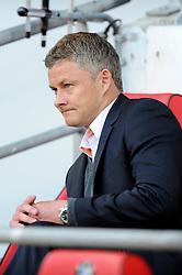 Cardiff City Manager, Ole Gunnar Solskjær - Photo mandatory by-line: Dougie Allward/JMP - Mobile: 07966 386802 19/08/2014 - SPORT - FOOTBALL - Cardiff - Cardiff City Stadium - Cardiff City v Wigan Athletic - Sky Bet Championship