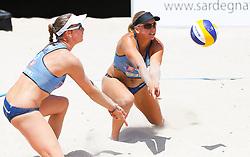 20140607 ITA: EK Beachvolleybal, Cagliari<br /> Marleen van Iersel en Madelein Meppelink behalen de finale op het EK<br /> ©2014-FotoHoogendoorn.nl / Pim Waslander