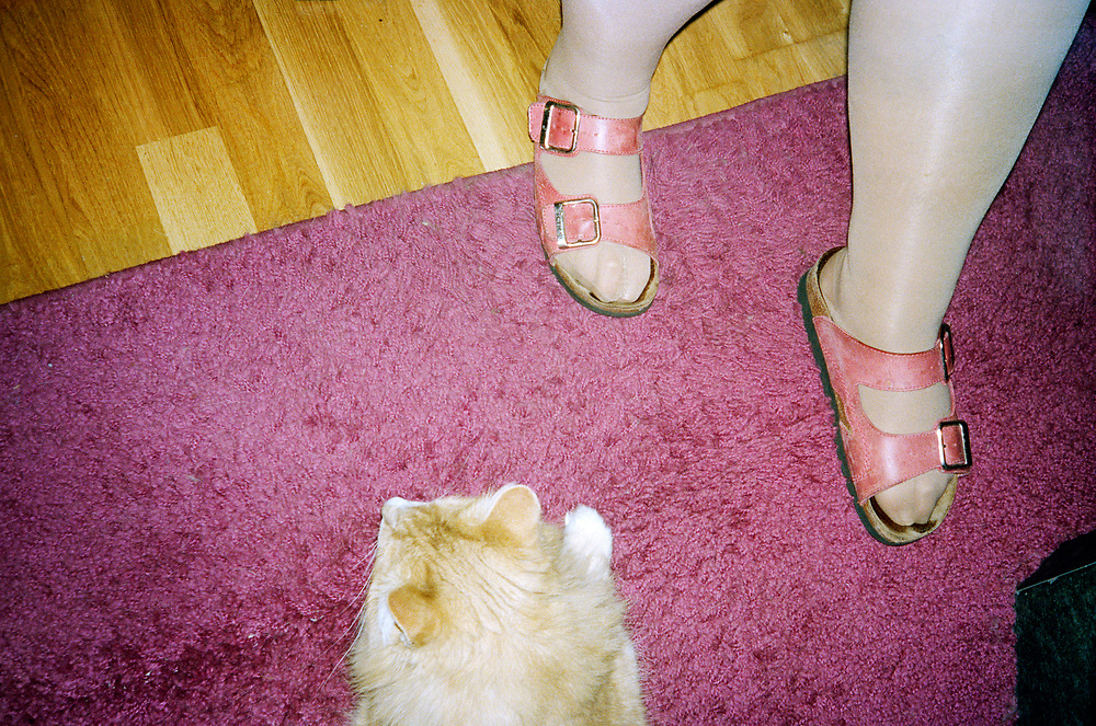 Katt People.<br /> Birgitta Yngvesson Carlsson with her cats.