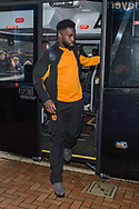 Nouha Dicko of Hull City arrives at Ewood Park, Blackburn ahead of during the FA Cup match between Blackburn Rovers and Hull City<br /> Picture by Matt Wilkinson/Focus Images Ltd 07814 960751<br /> 06/01/2018