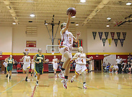 Marion's Allison Scott (2) scores on a break away during their game at Marion High School, 675 South 15th Street, in Marion, on Tuesday evening, November 22, 2011. (Stephen Mally/Freelance)