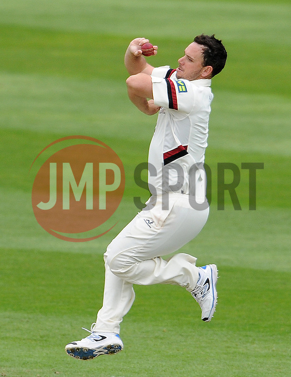 Somerset's Jim Allenby. Photo mandatory by-line: Harry Trump/JMP - Mobile: 07966 386802 - 10/05/15 - SPORT - CRICKET - Somerset v New Zealand - Day 3- The County Ground, Taunton, England.