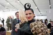 BISHI, OPENING OF FRIEZE ART FAIR. Regent's Park. London.  12 October 2011. <br /> <br />  , -DO NOT ARCHIVE-© Copyright Photograph by Dafydd Jones. 248 Clapham Rd. London SW9 0PZ. Tel 0207 820 0771. www.dafjones.com.