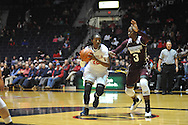 "Mississippi Lady Rebels forward Danielle McCray (22) shoots against Mississippi State Lady Bulldogs forward Breanna Richardson (3) at the C.M. ""Tad"" Smith Coliseum in Oxford, Miss. on Thursday, January 22, 2015. (AP Photo/Oxford Eagle, Bruce Newman)"