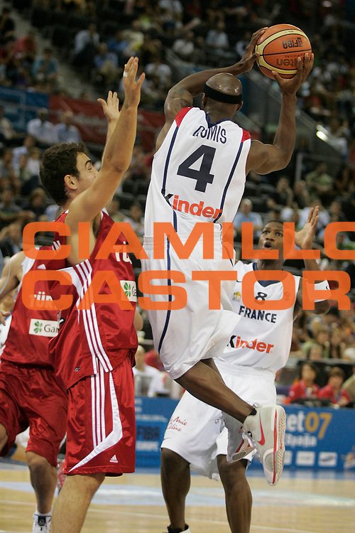 DESCRIZIONE : Madrid Spagna Spain Eurobasket Men 2007 Qualifying Round Francia Turchia France Turkey <br /> GIOCATORE : Joseph Gomis <br /> SQUADRA : Francia France <br /> EVENTO : Eurobasket Men 2007 Campionati Europei Uomini 2007 <br /> GARA : Francia Turchia France Turkey <br /> DATA : 12/09/2007 <br /> CATEGORIA : Passaggio <br /> SPORT : Pallacanestro <br /> AUTORE : Ciamillo&amp;Castoria/H.Bellenger <br /> Galleria : Eurobasket Men 2007 <br /> Fotonotizia : Madrid Spagna Spain Eurobasket Men 2007 Qualifying Round Francia Turchia France Turkey <br /> Predefinita :