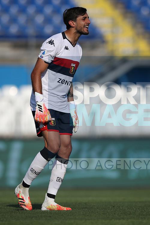 Genoa's Italian goalkeeper Mattia Perin during the Serie A match at Stadio Mario Rigamonti, Brescia. Picture date: 27th June 2020. Picture credit should read: Jonathan Moscrop/Sportimage