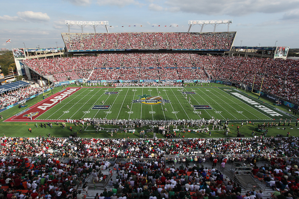 stadium view of the Florida Citrus Bowl, during the 2011 Capital One Bowl in Orlando, FL. .