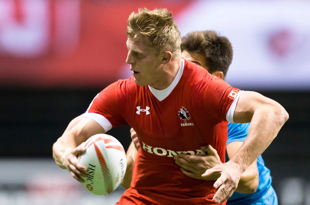 John Moonlight of Canada plays Russia at the HSBC Sevens World Series XVII Round 6 at B.C. Place Stadium in Vancouver, British Columbia on March 12, 2016. Canada would beat Russia 29-12. (KevinLight/CBCSports)