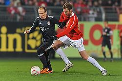 19.02.2011, Bruchwegstadion, Mainz, GER, 1. FBL, Mainz 05 vs FC Bayern Muenchen, im Bild Arjen Robben (Bayern #10) im Zweikampf mit Jan KIRCHHOFF (Mainz GER #15), EXPA Pictures © 2011, PhotoCredit: EXPA/ nph/  Roth       ****** out of GER / SWE / CRO  / BEL ******