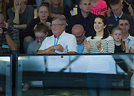 Copenhagen, 15-04-2016<br /> <br /> Crown Prince Frederik and Crown Princess Mary attend the qualification regatta Danish Open at the Bellah&oslash;j Swimming Stadium<br /> <br /> ROYALPORTRAITS EUROPE BERNARD RUEBSAMEN