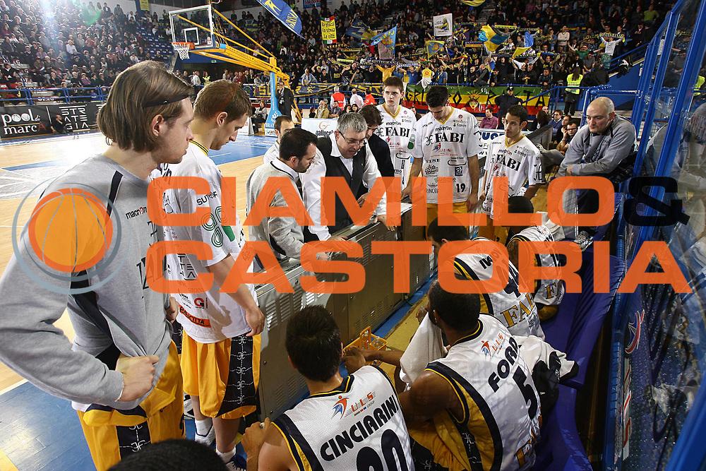 DESCRIZIONE : Porto San Giorgio Lega A 2010-11 Fabi Montegranaro Vanoli Braga Cremona<br /> GIOCATORE : Stefano Pillastrini<br /> SQUADRA : Fabi Montegranaro<br /> EVENTO : Campionato Lega A 2010-2011<br /> GARA : Fabi Montegranaro Vanoli Braga Cremona<br /> DATA : 20/02/2011<br /> CATEGORIA : coach timeout<br /> SPORT : Pallacanestro<br /> AUTORE : Agenzia Ciamillo-Castoria/C.De Massis<br /> Galleria : Lega Basket A 2010-2011<br /> Fotonotizia : Porto San Giorgio Lega A 2010-11 Fabi Montegranaro Vanoli Braga Cremona<br /> Predefinita :