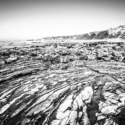 Crystal Cove tide pools black and white picture. Crystal Cove State Park is famous for tide pool rock formations and is located along the Pacific Ocean in Laguna Beach and Newport Beach in Southern California. Copyright © 2012 Paul Velgos with All Rights Reserved.