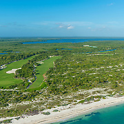 Aerial view of the Playa Mujeres Golf course.
