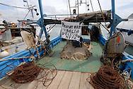 Anzio, Italy 14/06/2008: pescherecci nel porto in sciopero per il caro gasolio