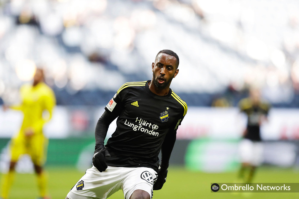 SOLNA, SWEDEN - APRIL 30: Henok Goitom of AIK during the Allsvenskan match between AIK and GIF Sundsvall at Friends arena on April 30, 2017 in Solna, Sweden. Foto: Nils Petter Nilsson/Ombrello