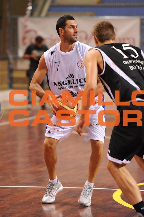 DESCRIZIONE : Novara Torneo di Novara Lega A 2011-12 Angelico Biella Canadian Solar Virtus Bologna<br /> GIOCATORE : Matteo Soragna<br /> CATEGORIA : palleggio<br /> SQUADRA :  Angelico Biella<br /> EVENTO : Campionato Lega A 2011-2012<br /> GARA : Angelico Biella Canadian Solar Virtus Bologna<br /> DATA : 10/09/2011<br /> SPORT : Pallacanestro<br /> AUTORE : Agenzia Ciamillo-Castoria/GiulioCiamillo<br /> Galleria : Lega Basket A 2011-2012<br /> Fotonotizia : Novara Torneo di Novara Lega A 2011-12 Angelico Biella Canadian Solar Virtus Bologna<br /> Predefinita :