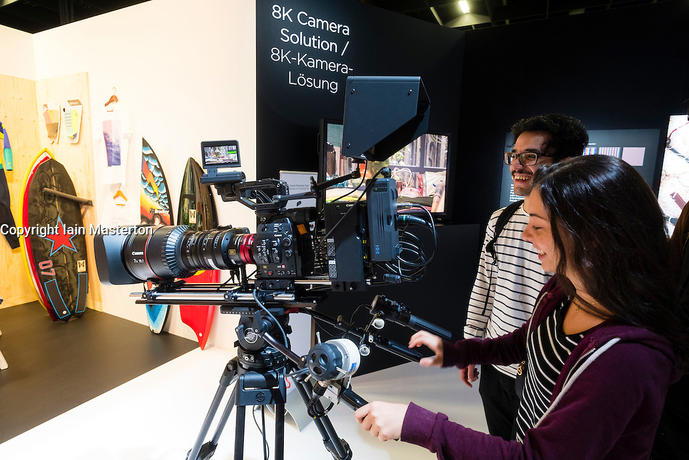 Canon 8k video prototype movie camera at Photokina trade fair in Cologne, Germany , 2016