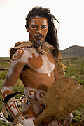 Rapa Nui man in native dress  Easter Island