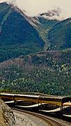Rocky Mountaineer train, Canada Cascade Mountains,