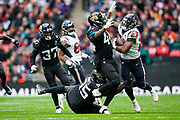 Houston Texans Running Back Cullen Gillaspia (44) during the International Series match between Jacksonville Jaguars and Houston Texans at Wembley Stadium, London, England on 3 November 2019.