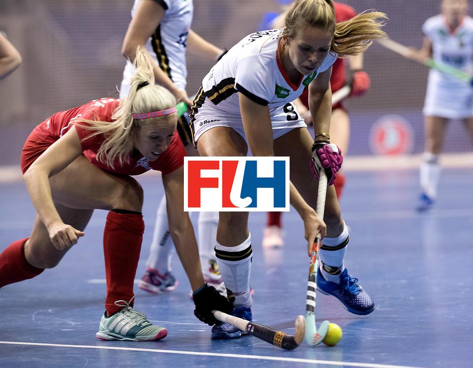 BERLIN - Indoor Hockey World Cup<br /> Women: Czech Republic - Germany<br /> foto: Anne Schroeder.<br /> WORLDSPORTPICS COPYRIGHT FRANK UIJLENBROEK