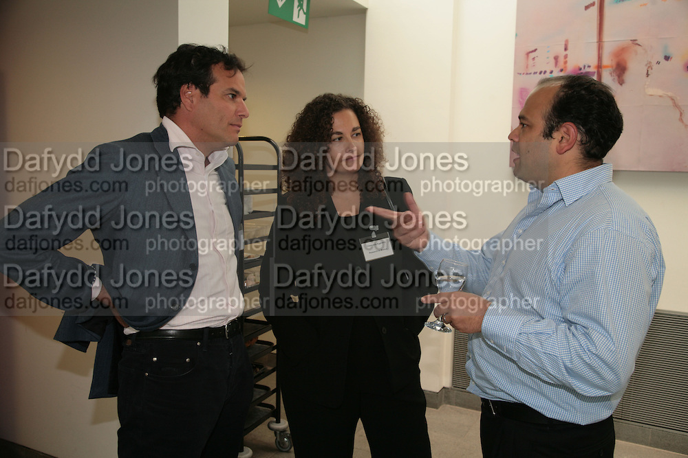 Brent Hoberman, Charmaine Eggberry and Adam Valkin, Arts Alliance CEOs Summit. Tanaka Business School. Imperial College, London. 17 April 2007.  -DO NOT ARCHIVE-© Copyright Photograph by Dafydd Jones. 248 Clapham Rd. London SW9 0PZ. Tel 0207 820 0771. www.dafjones.com.