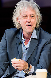 © Licensed to London News Pictures. 12/05/2017. BOB GELDOF eats a sandwich during a speech at The Convention, a two day public debate on the deep impacts of Brexit and the political crash. London, UK. Photo credit: Ray Tang/LNP