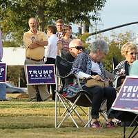 Adam Robison   BUY AT PHOTOS.DJOURNAL.COM<br /> Donald Trump supporters gather at Fairpak in Tupelo Thursday night for a Trump rally hosted by the Lee County Republicans.