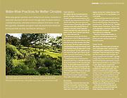 The watercourse garden slows storm runoff in Cornell Botanic Gardens arboretum