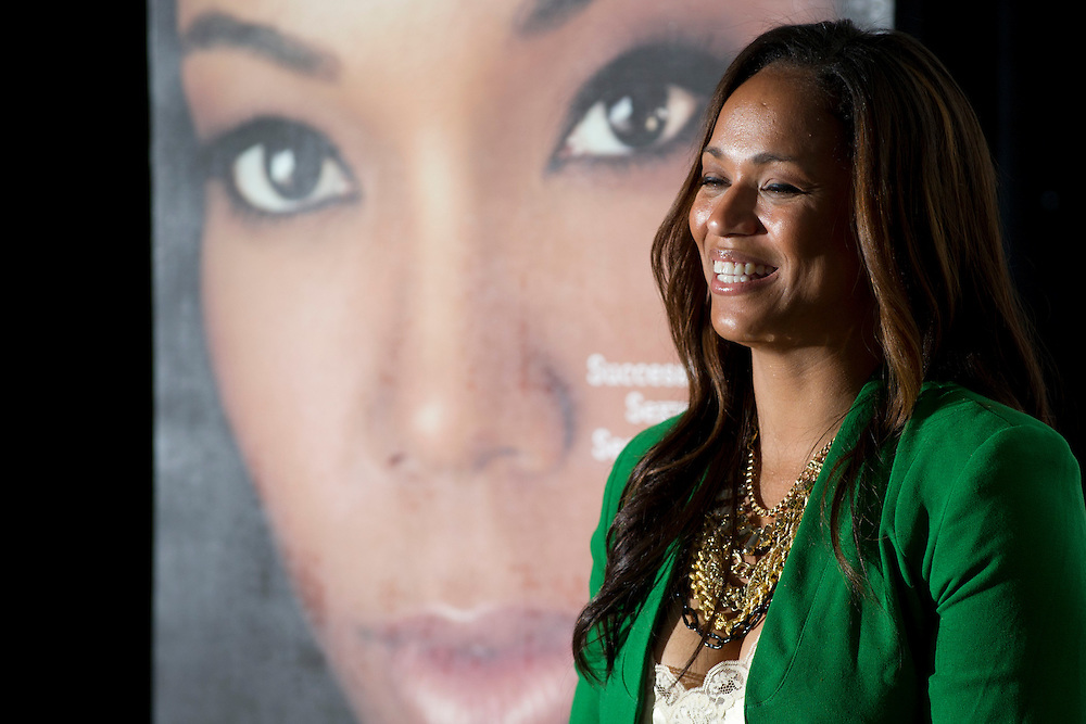 """Dallas television personality Shon Gables lead a Q&A after a screening of BET's """"Being Mary Jane"""" at the W Hotel in Dallas, Texas on June 22, 2013."""