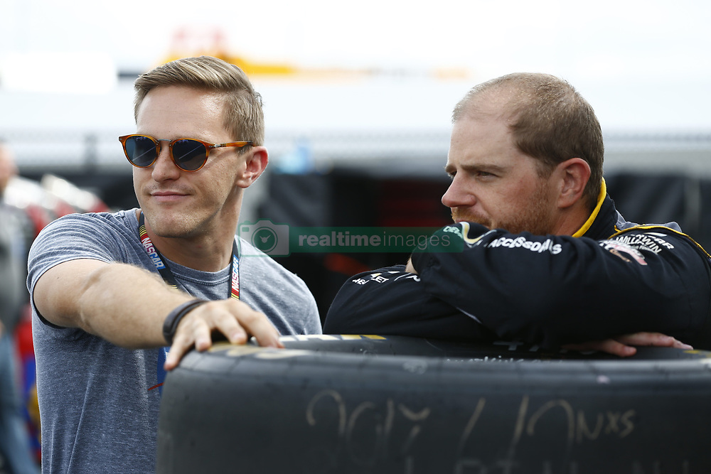 September 27, 2018 - Concord, North Carolina, United States of America - Justin Marks (42) hangs out in the garage during practice for the Drive for the Cure 200 at Charlotte Motor Speedway in Concord, North Carolina. (Credit Image: © Chris Owens Asp Inc/ASP via ZUMA Wire)