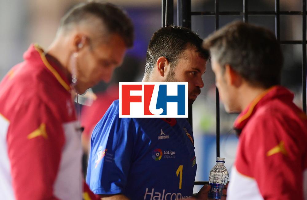 Odisha Men's Hockey World League Final Bhubaneswar 2017<br /> Match id:15<br /> Spain v Australia<br /> Foto: keeper Quico Cortes (Esp) <br /> COPYRIGHT WORLDSPORTPICS FRANK UIJLENBROEK