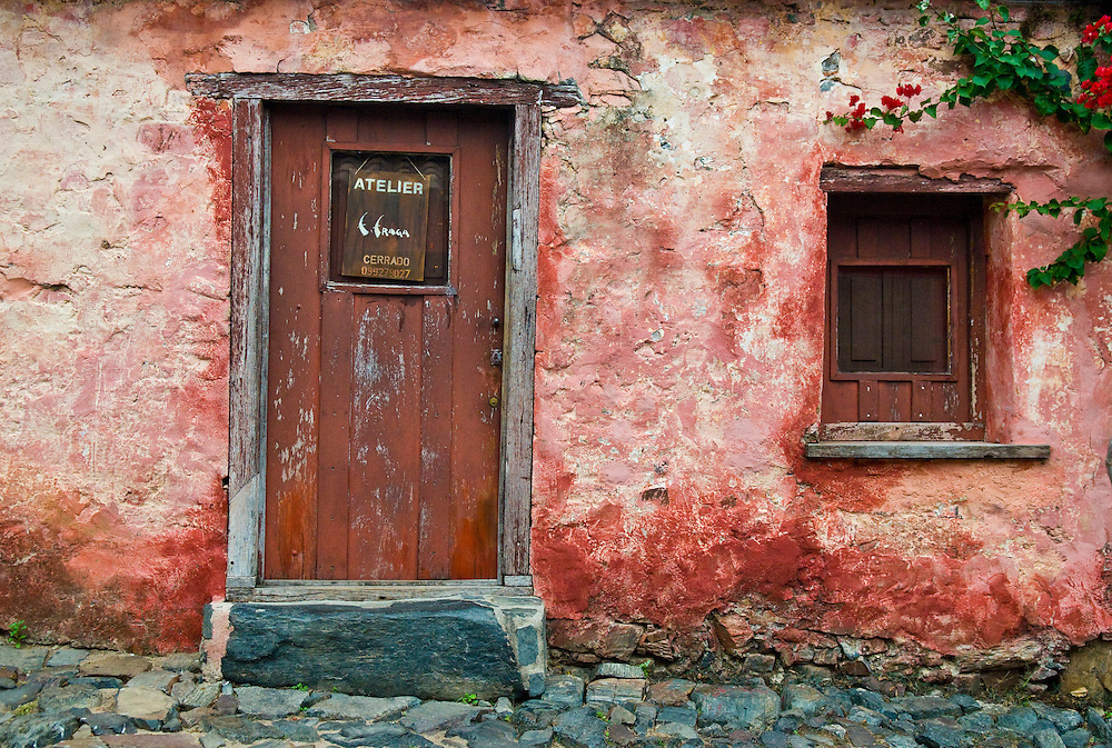 """Ditails in the Historic Quarter of the City of """"Colonia del Sacramento"""" in Uruguay an """"Unesco world heritage"""" site"""