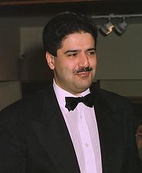 The Ambassador of Bahrain MR SHAIKH ABDUL AZIZ BIN MUBARAK AL KHALIFA, at a party in London on October 20th 1997.MCG 14