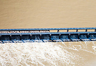 Norco. Louisiana, U.S. Army Corps of Engineers  opened some of the gates of the Bonnet Carre Spillway to reduce the Mississippi's water-flow as it approaches New Orleans, directing it into Lake Pontchartrain.