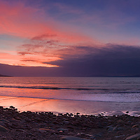 Pink Sunset Panorama Rossbeigh Beach, County Kerry, Ireland / kr014