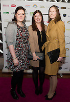 13/11/2015 Repro free  Deirdre O'Sullivan, Maeve O'Sullivan and Lorna O'Regan all from Athenry at Galway Glamour  by Galway Shopping Centre at the g Hotel hosted by Sile Seoige  <br /> Photo:Andrew Downes, xposure.
