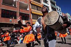 Members of El Alto, a satellite city of La Paz, celebrate the Day of the Virgin Carmen on July 16th,