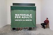 """56th Art Biennale in Venice - All The World's Futures.<br /> Giardini.<br /> Spain pavilion.<br /> Francesco Ruiz, """"Il Fumetto dei Giardini"""", 2015"""
