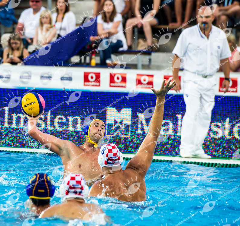 5  MOLINA RIOS Guillermo  ESP<br /> CRO(white) vs ESP(blue)<br /> LEN European Water Polo Championships 2014<br /> Alfred Hajos -Tamas Szechy Swimming Complex<br /> Margitsziget - Margaret Island<br /> Day02 - July 15 <br /> Photo G. Scala/Inside/Deepbluemedia