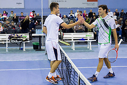 Mike Urbanija and Tomislav Ternar at Tennis exhibition day and Slovenian Tennis personality of the year 2013 annual awards presented by Slovene Tennis Association TZS, on December 21, 2013 in BTC City, TC Millenium, Ljubljana, Slovenia.  Photo by Vid Ponikvar / Sportida
