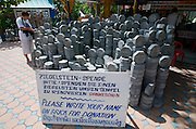 Wat Phra Yai (Big Buddha Temple). Donation stones for renovation.
