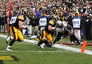 15 NOVEMBER 2008: Purdue running back Kory Sheets (24) reaches for the end zone in the first half of an NCAA college football game against Purdue, at Kinnick Stadium in Iowa City, Iowa on Saturday Nov. 15, 2008. Iowa beat Purdue 22-17.
