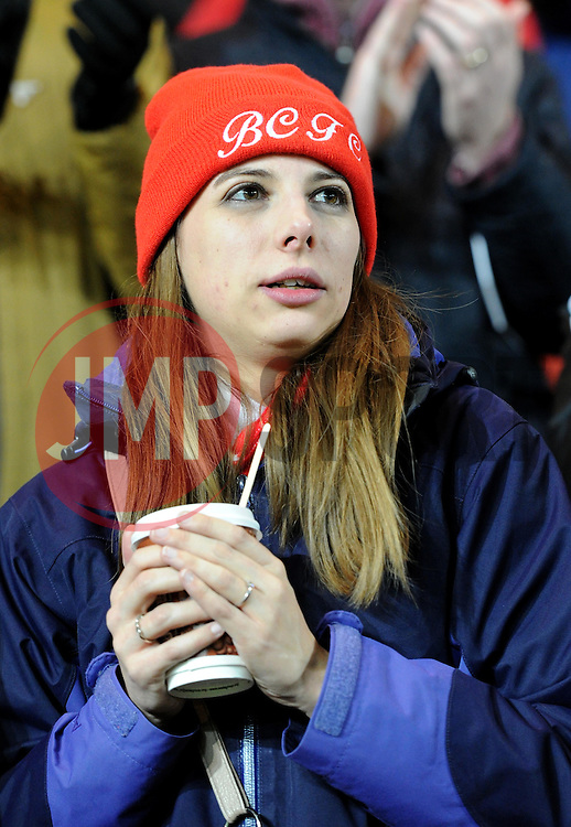 Spectator at the Sky Bet Championship match between Bristol City and Preston North End at Ashton Gate Stadium on 12 January 2016 in Bristol, England - Mandatory by-line: Paul Knight/JMP - Mobile: 07966 386802 - 12/01/2016 -  FOOTBALL - Ashton Gate Stadium - Bristol, England -  Bristol City v Preston North End - Sky Bet Championship