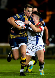 Luke Scully of Worcester Cavaliers breaks through - Mandatory by-line: Robbie Stephenson/JMP - 24/09/2018 - RUGBY - Sixways Stadium - Worcester, England - Worcester Cavaliers v Sale Jets - Premiership Rugby Shield