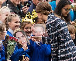 The Duke and Duchess of Cambridge visit the National Football Museum in Manchester<br /> <br /> (c) John Baguley   Edinburgh Elite media