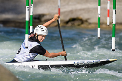 Viktoriia DOBROTVORSKA of Ukraine during the Canoe Single (WC1) Womens Semi Final race of 2019 ICF Canoe Slalom World Cup 4, on June 30, 2019 in Tacen, Ljubljana, Slovenia. Photo by Sasa Pahic Szabo / Sportida